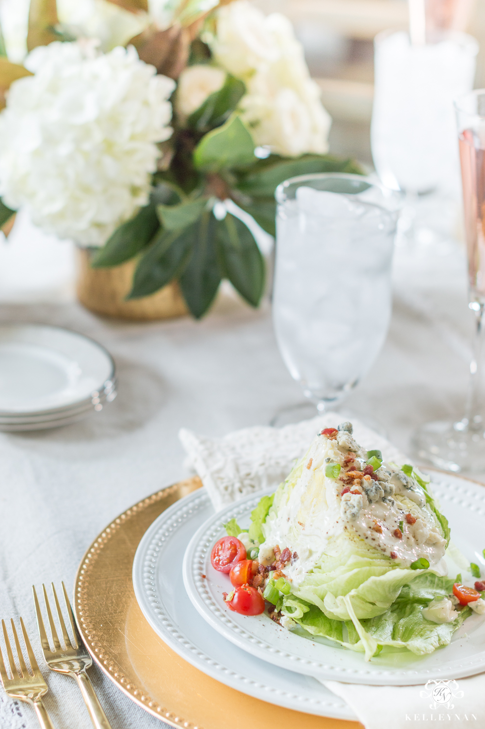What to put on a wedge salad for dinner guests