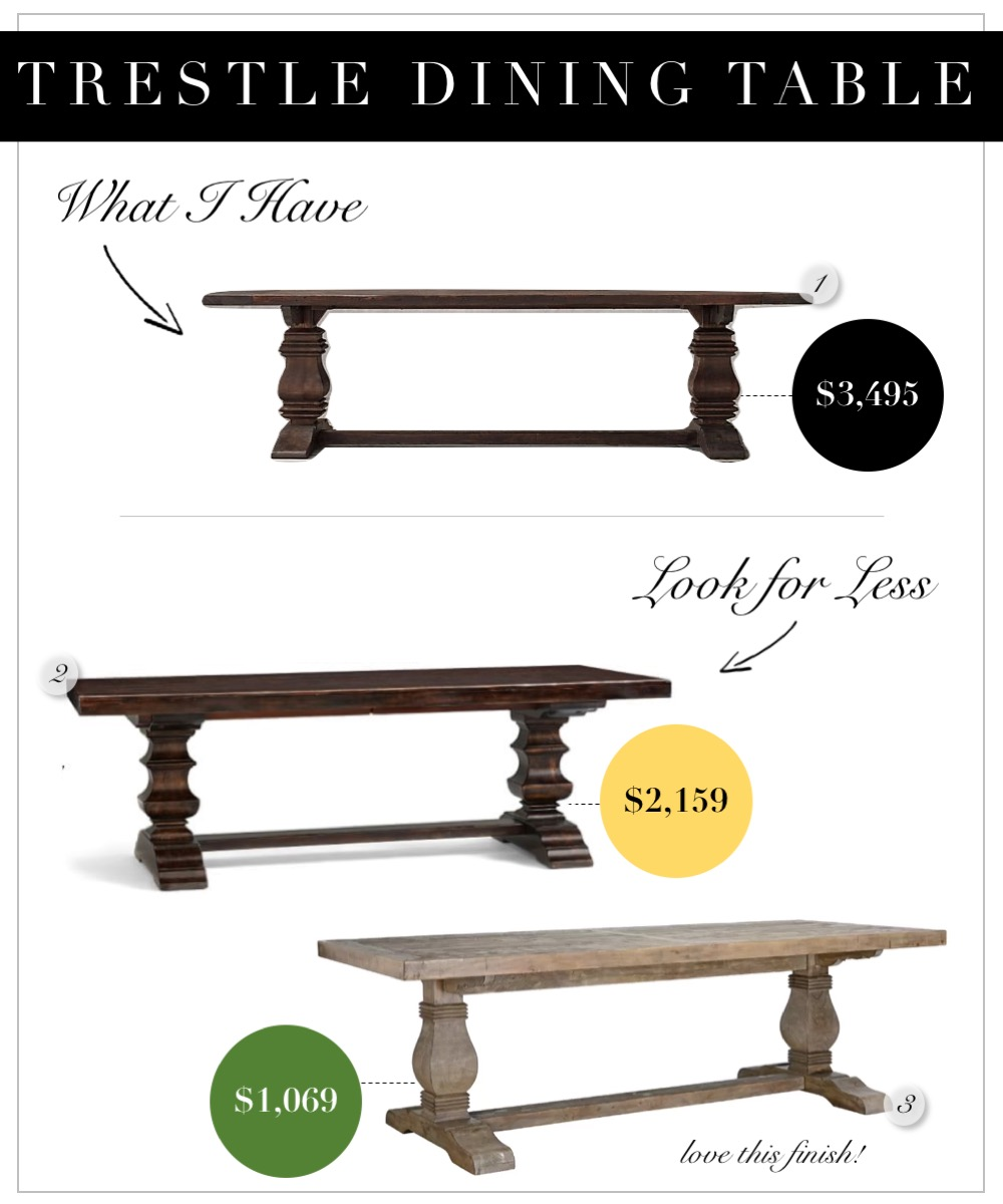 Restoration Hardware Trestle Table Look-alikes