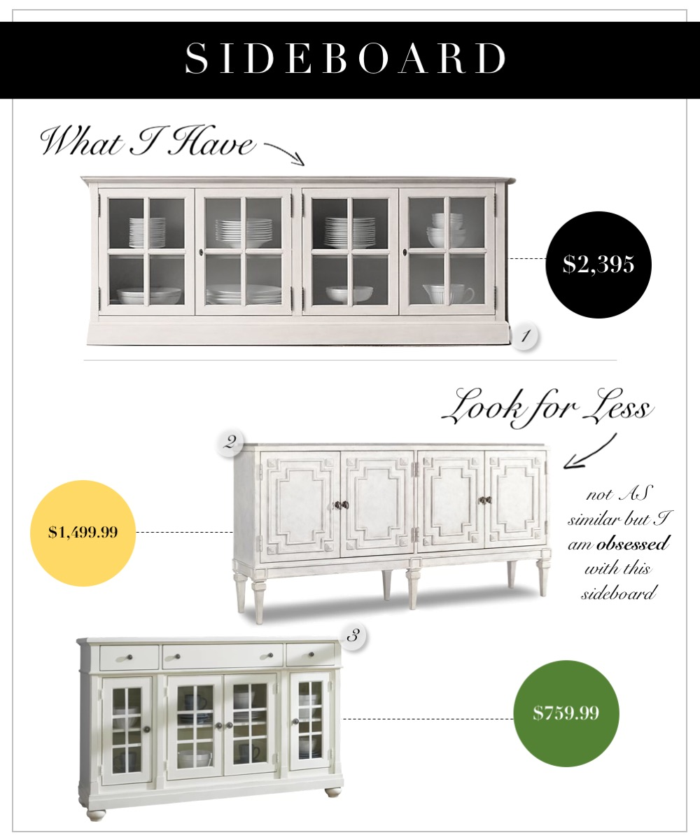 Pretty cream and linen dining room buffets and sideboards