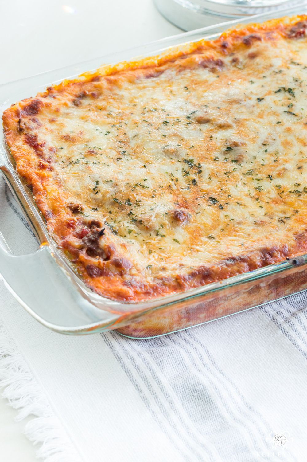 Favorite Lasagna Recipe for Christmas Eve with ground beef instead of sausage