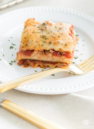 Favorite Two-Layer Lasagna Recipe (with ground beef)