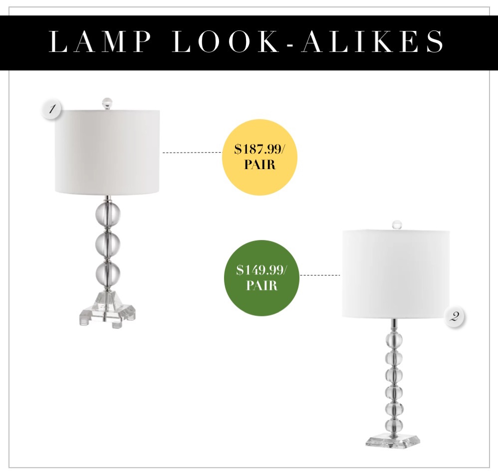 Glass lamps in pairs that are affordable