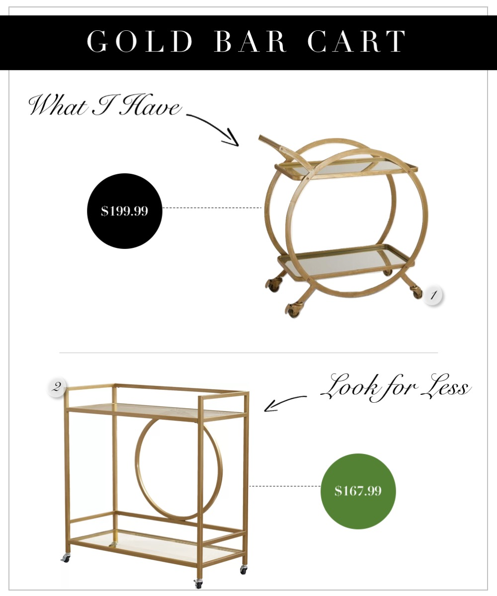 Inexpensive gold bar carts