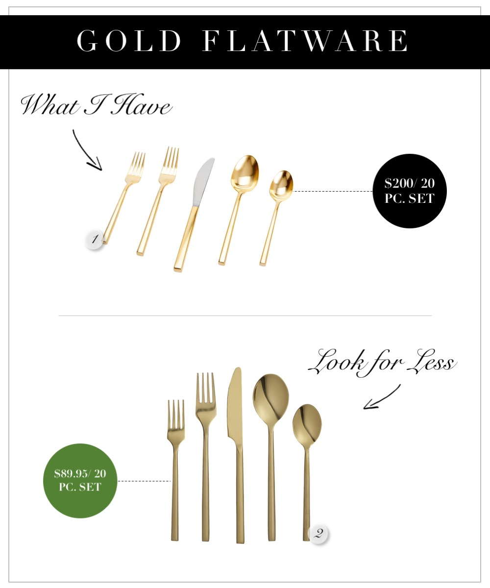 Gold flatware that's budget friendly