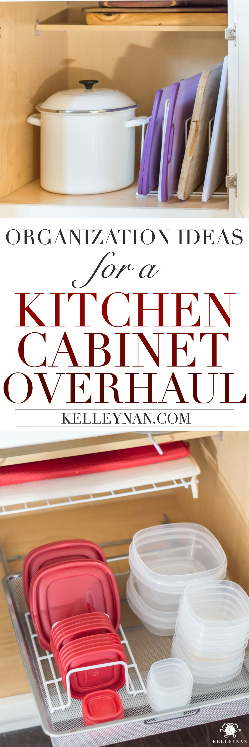 How to Organize and declutter your kitchen cabinets
