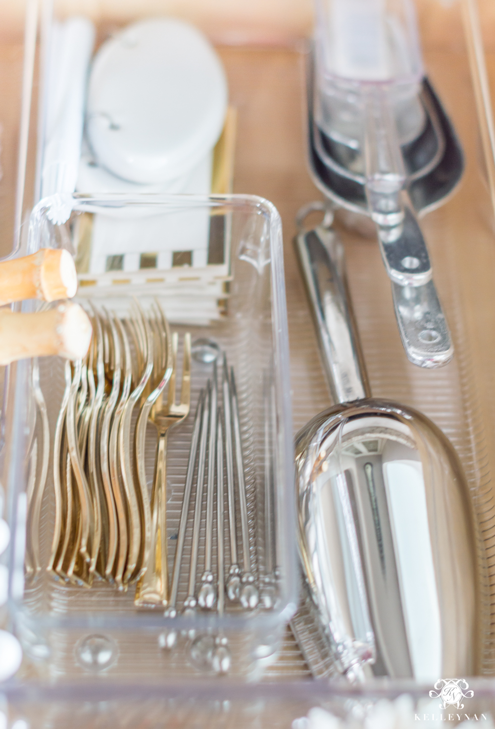 Barware Tool Organization in a Butler's Pantry