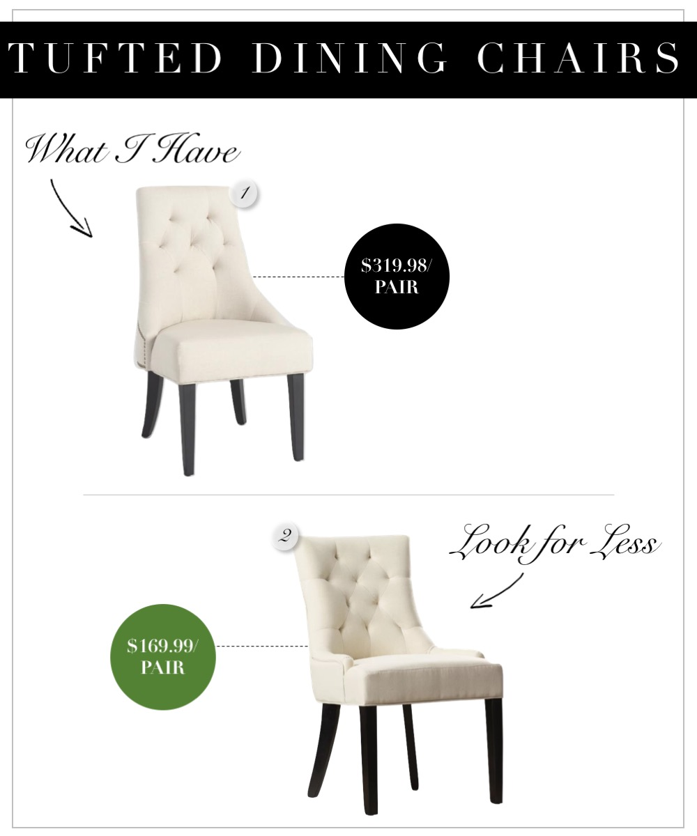 Tufted Chairs- World Market Linen Lydia Inexpensive Dupe