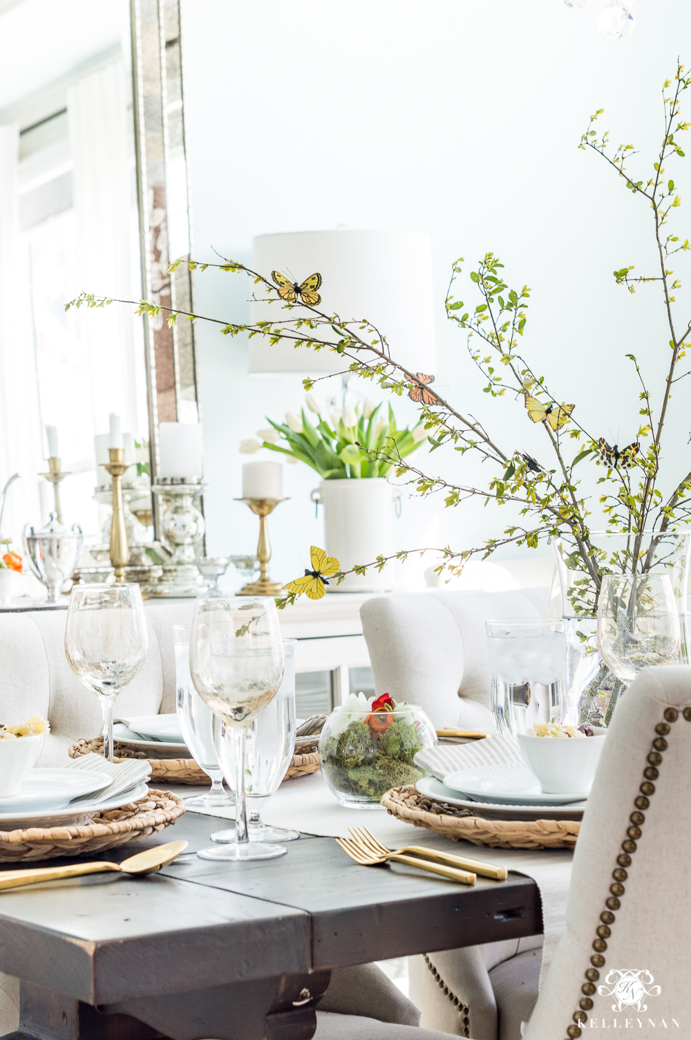 Large Spring Branch CEnterpiece for Butterfly Spring Table