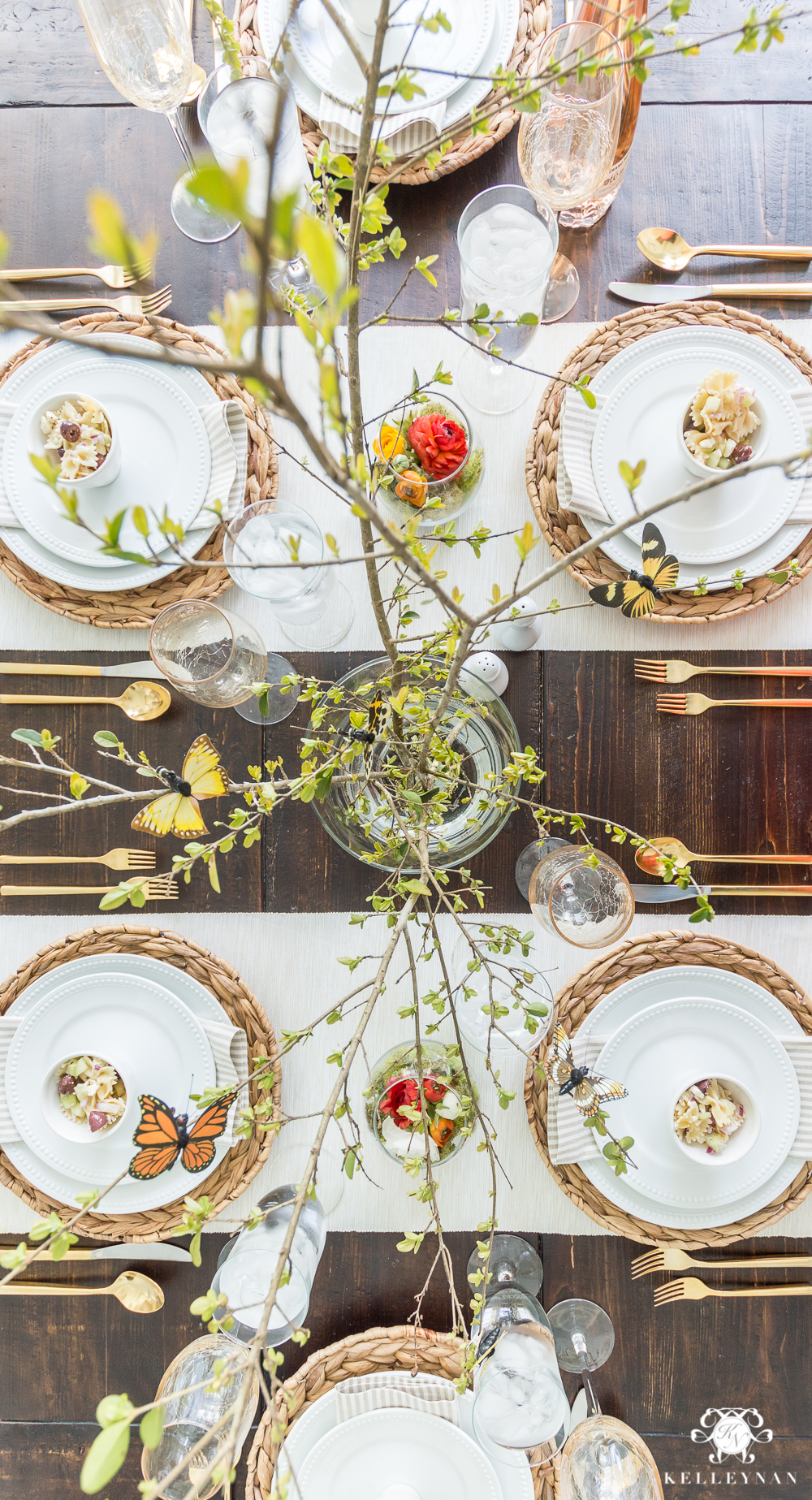 Easy, Whimsical Spring Party Table with Butterflies