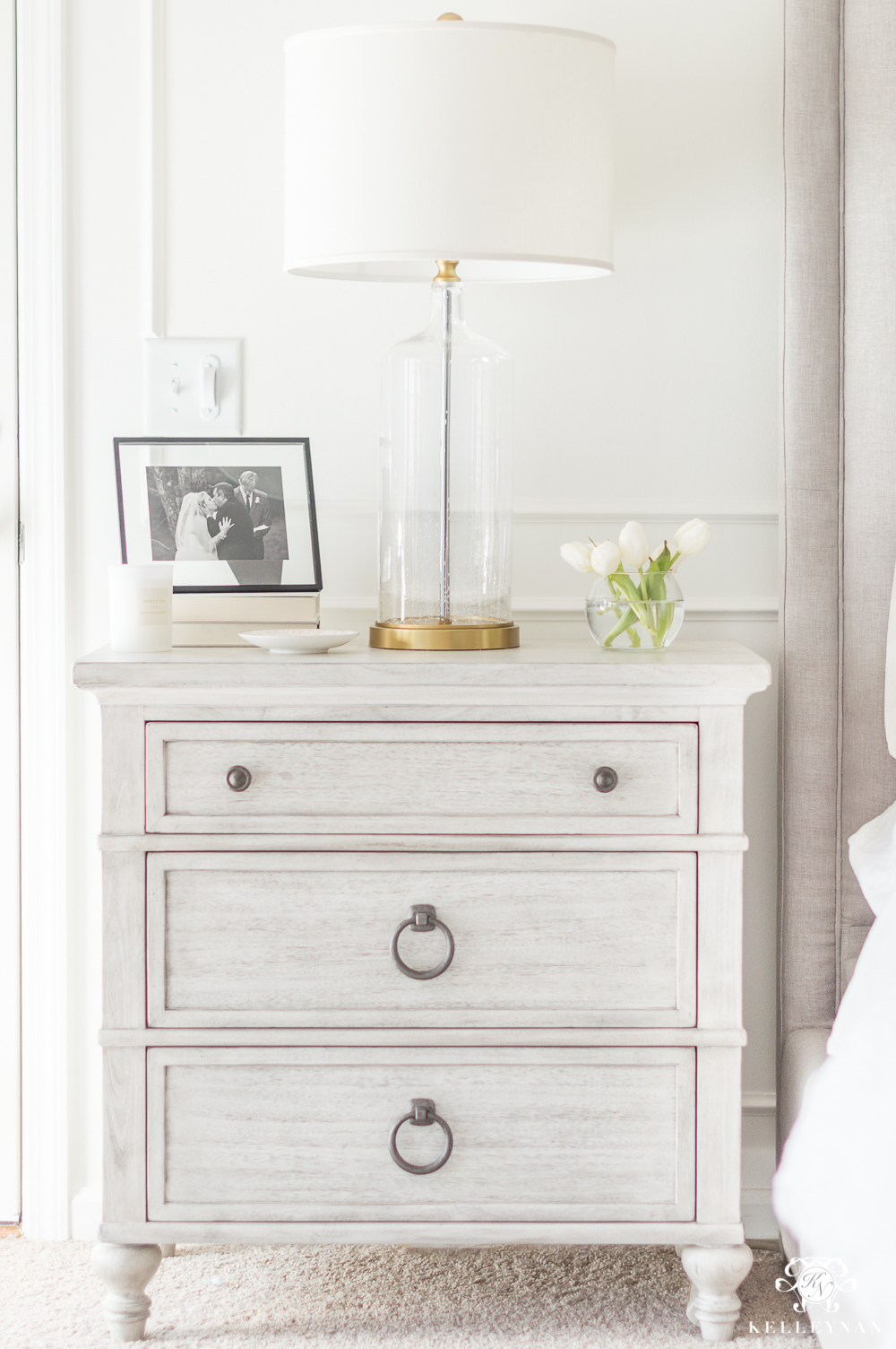 White Washed Nightstand Inspiration for Styling