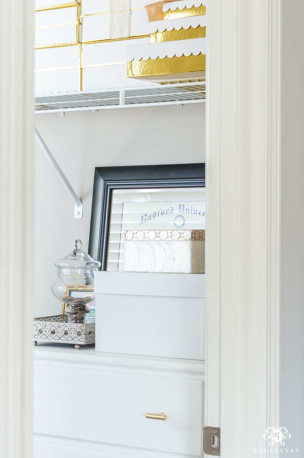 Office closet organization ideas