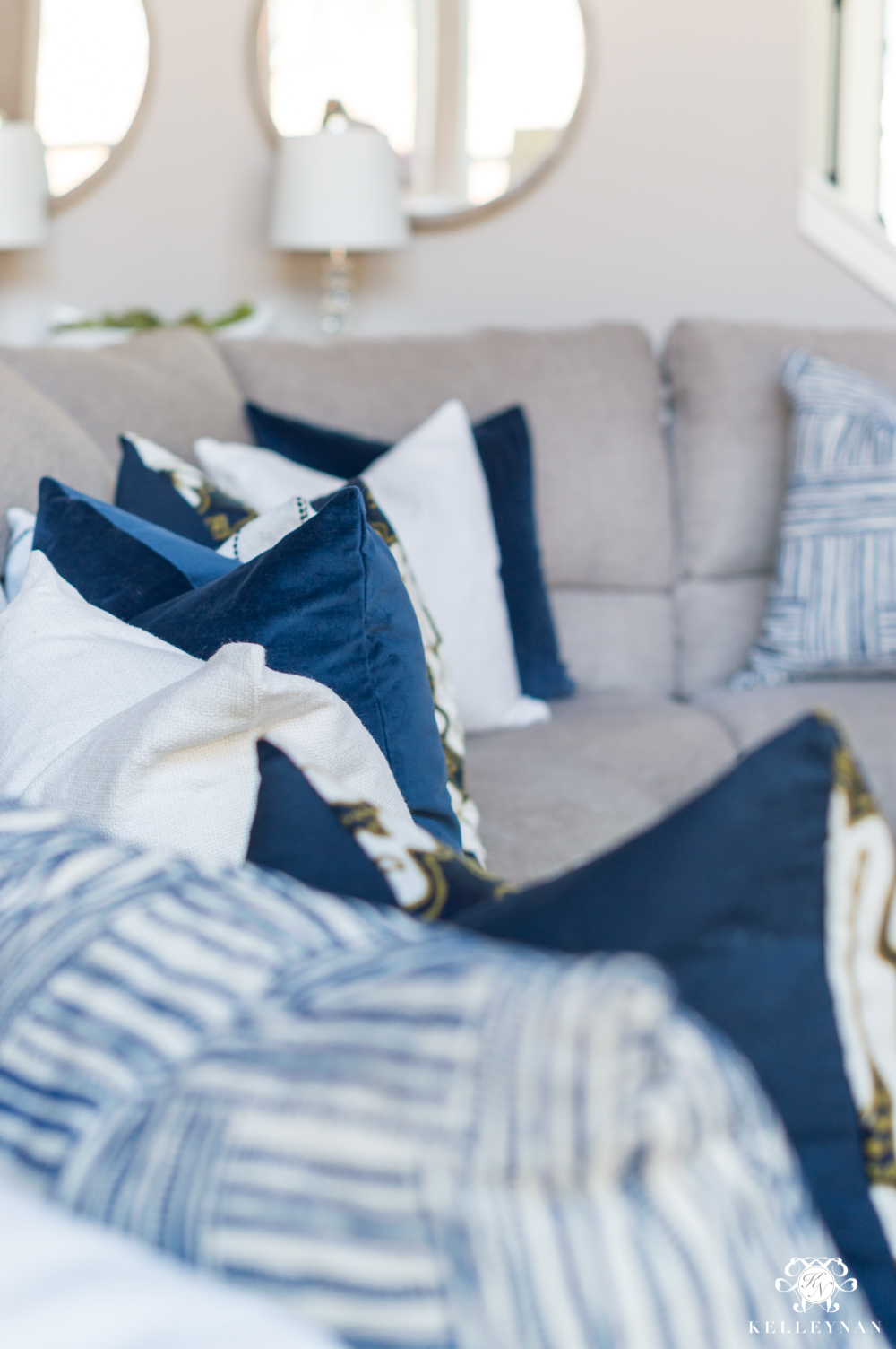 How to Style Pillows on a Sectional Sofa