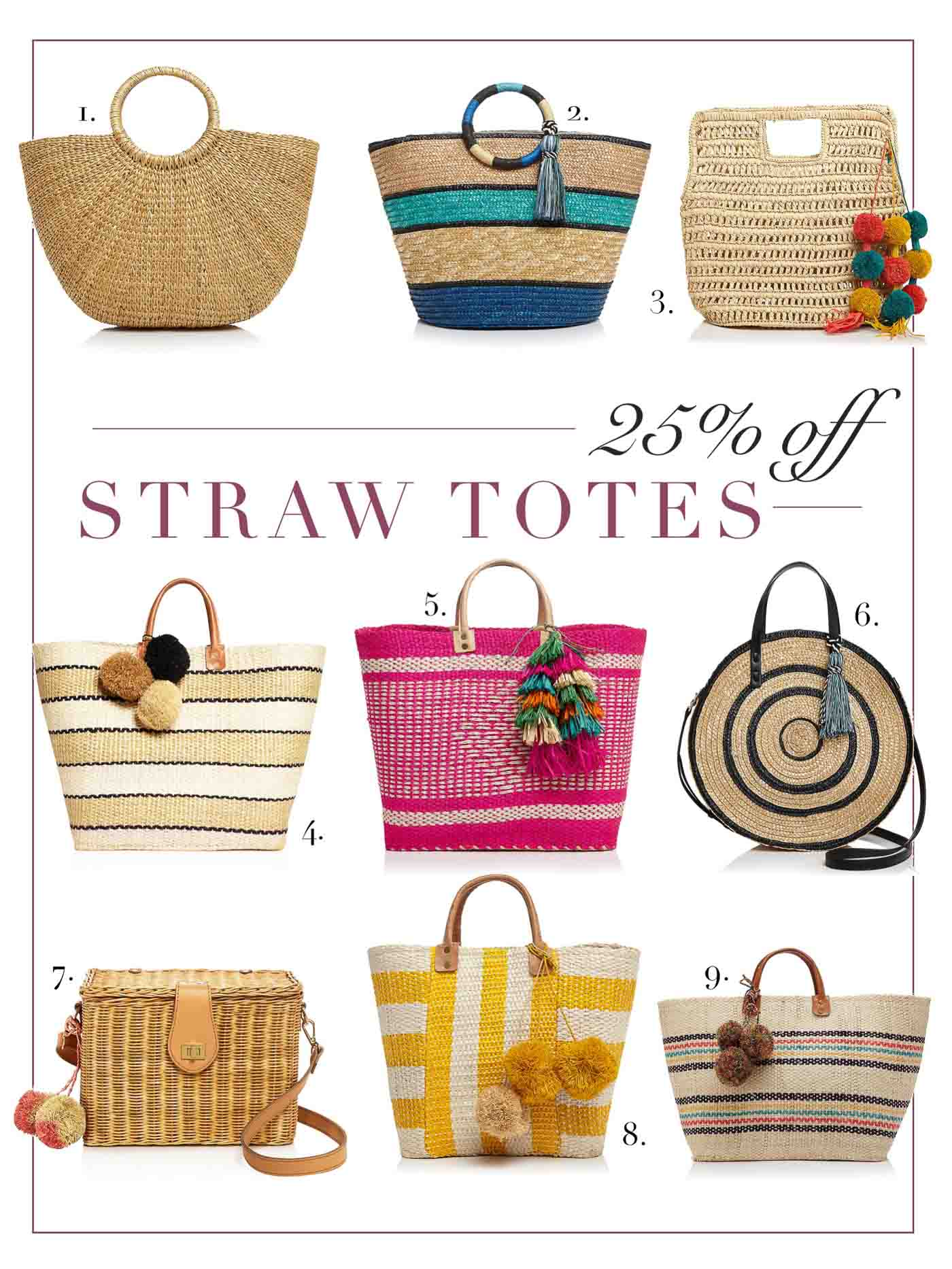 Favorite Straw Totes for Summer and the Beach