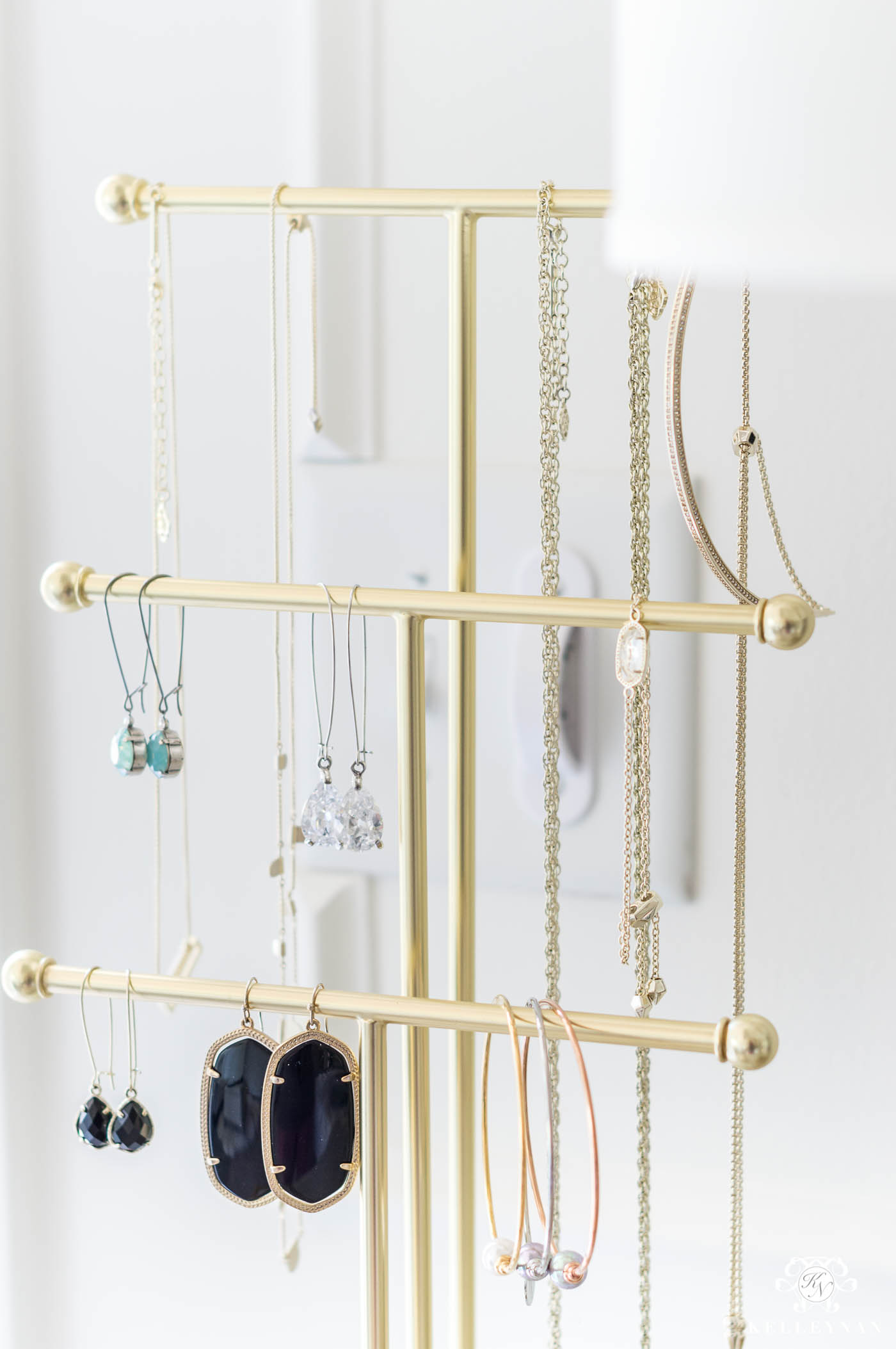 Brass Jewelry Stand for Display that will hold long necklaces