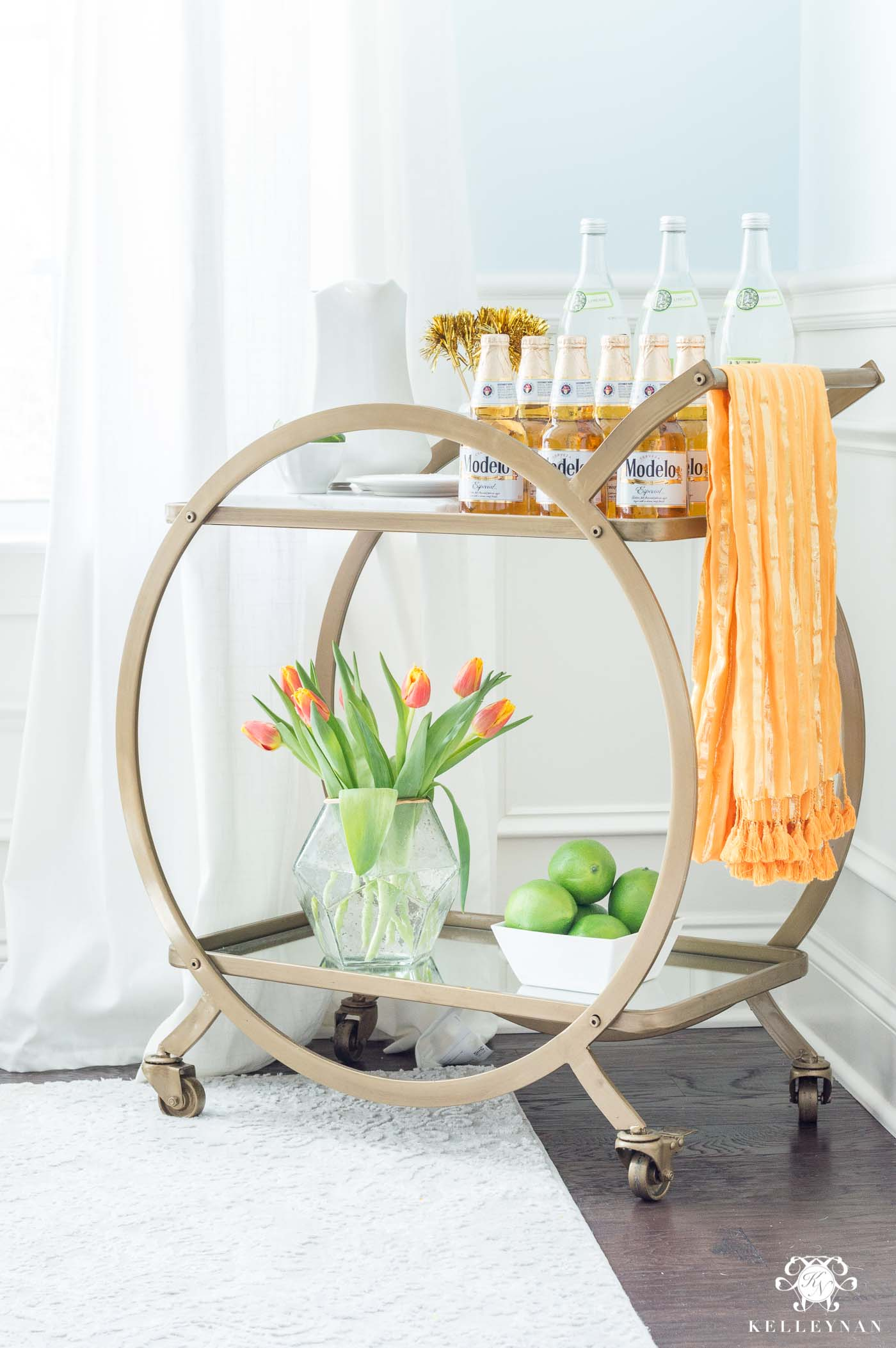 Cinco de Mayo Fiesta Margarita Bar Cart Styling