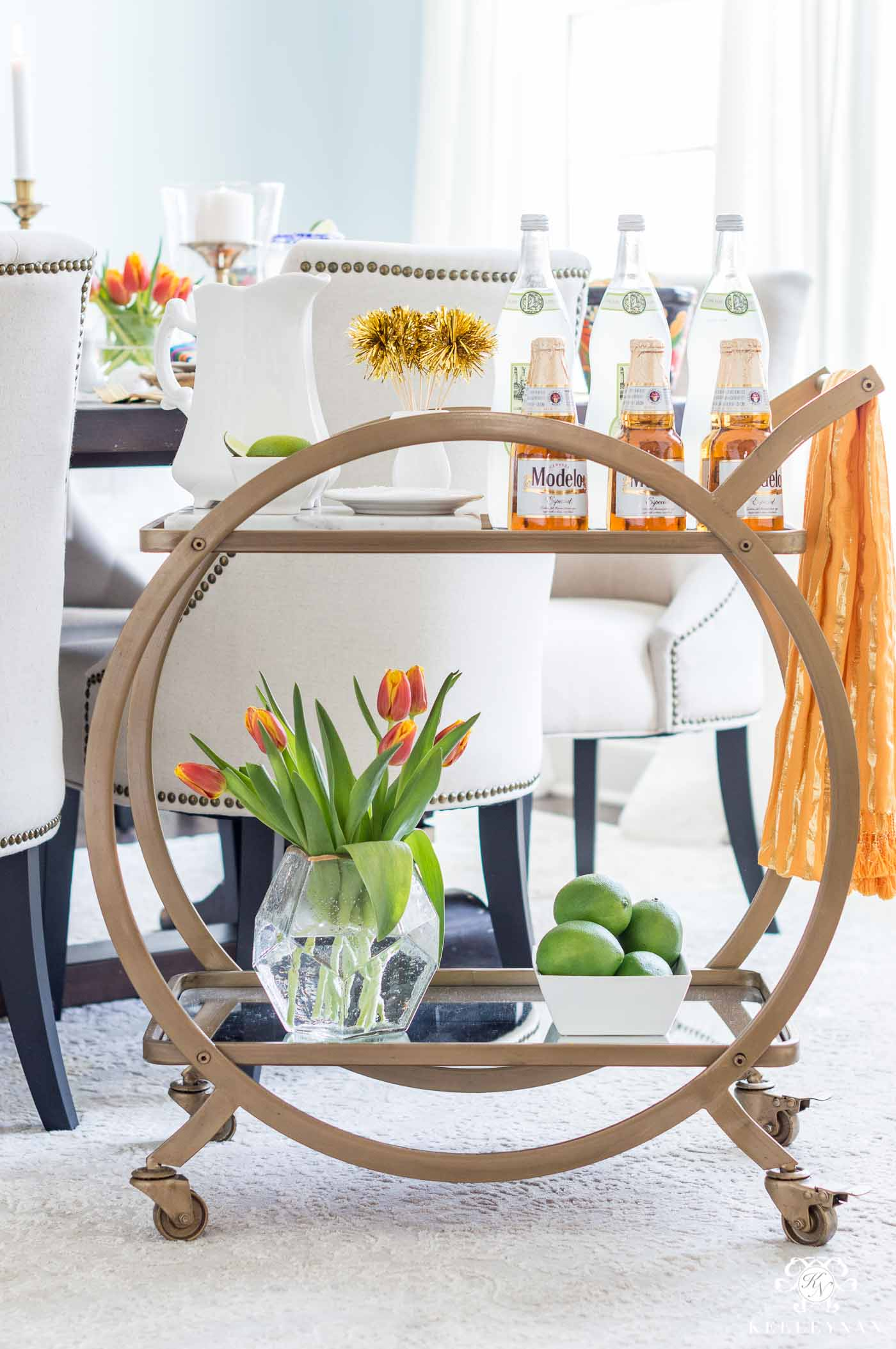 Mexican themed bar cart