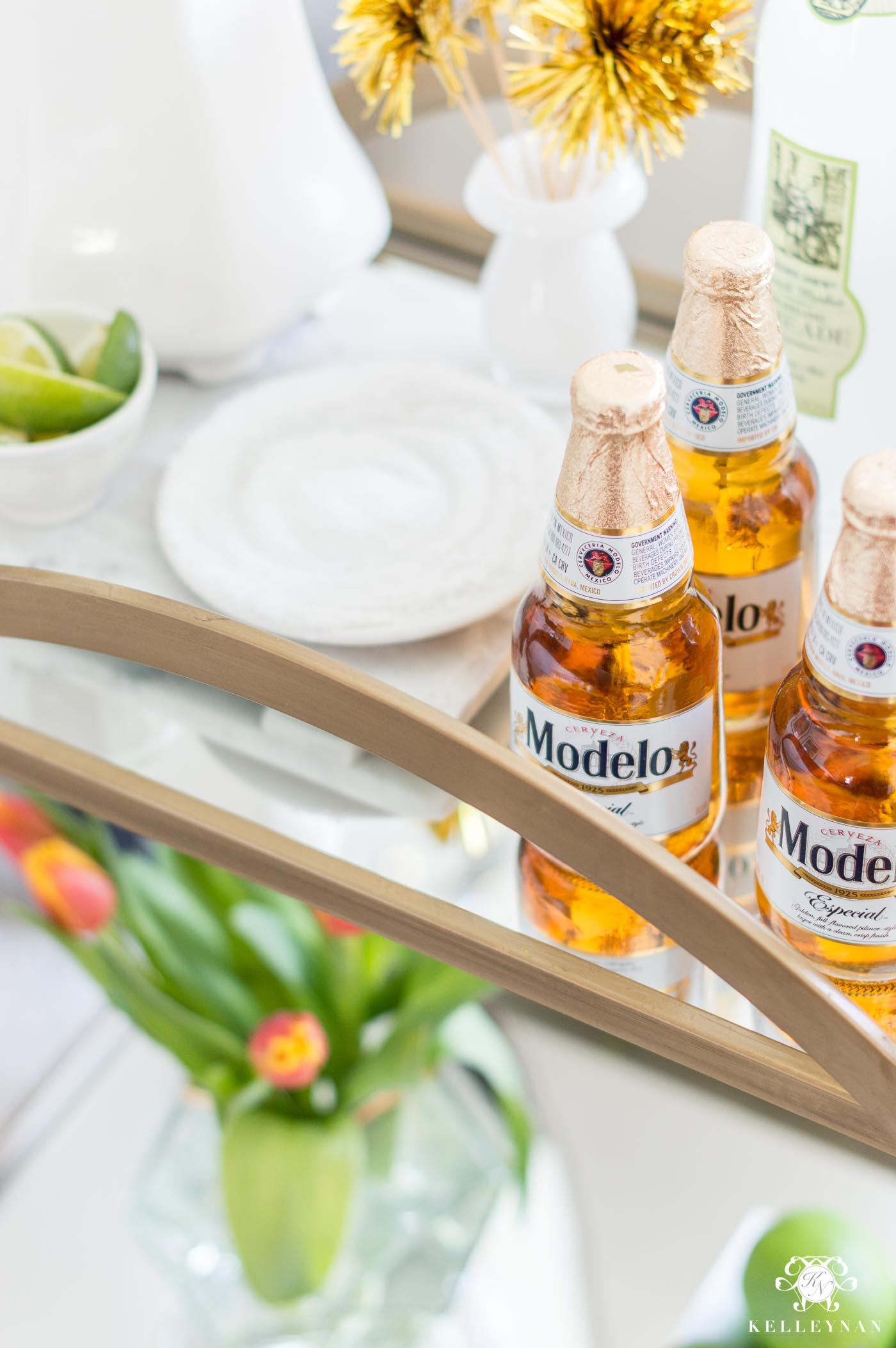 Modelo styled on Mexican Bar Cart