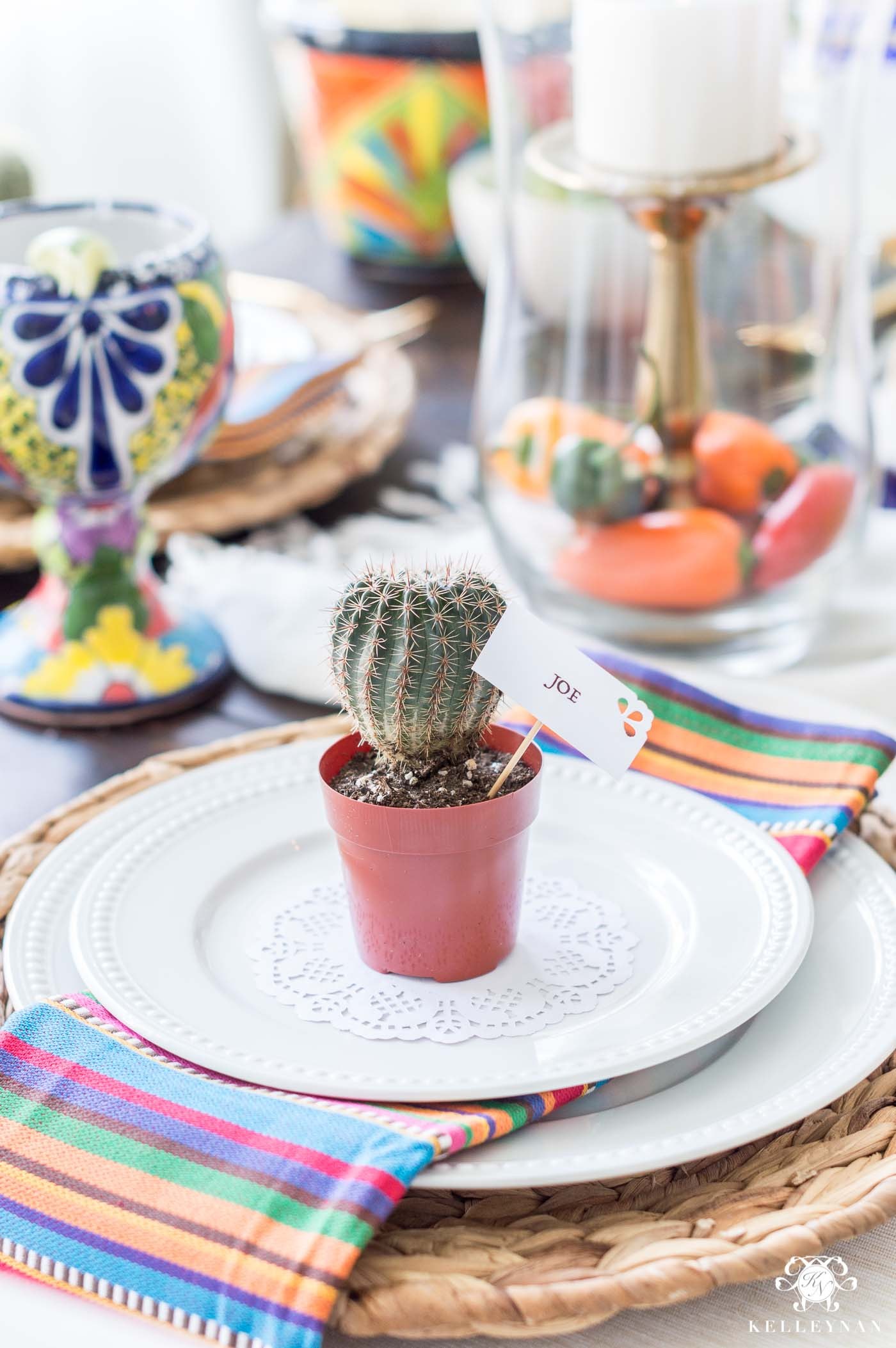 Mini Cactus Fiesta Party Favor