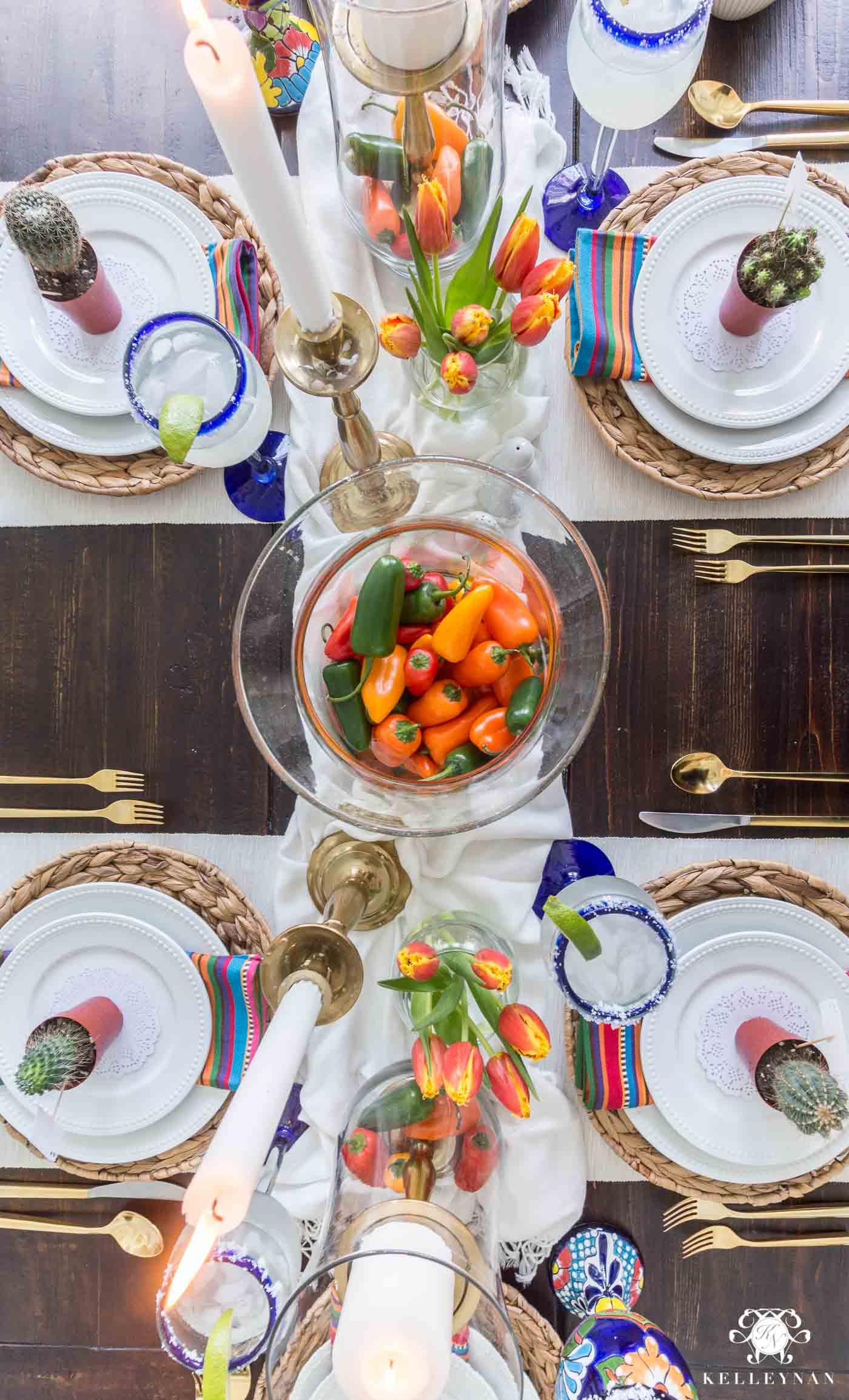 Pepper Centerpiece for Cinco de Mayo Table