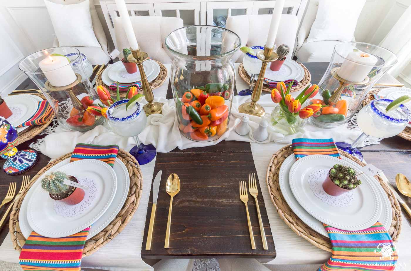 Mexican Fiesta Table Decoration Ideas & Mexican Fiesta Party Ideas (u0026 the Best Authentic Guacamole Recipe)