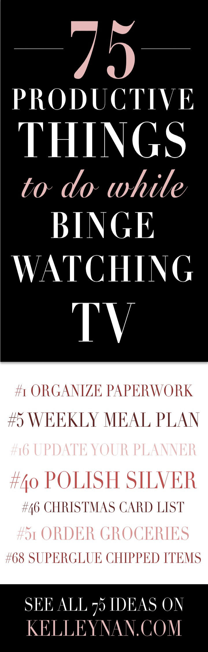 75 productive things to do while binge watching tv shows kelley nan