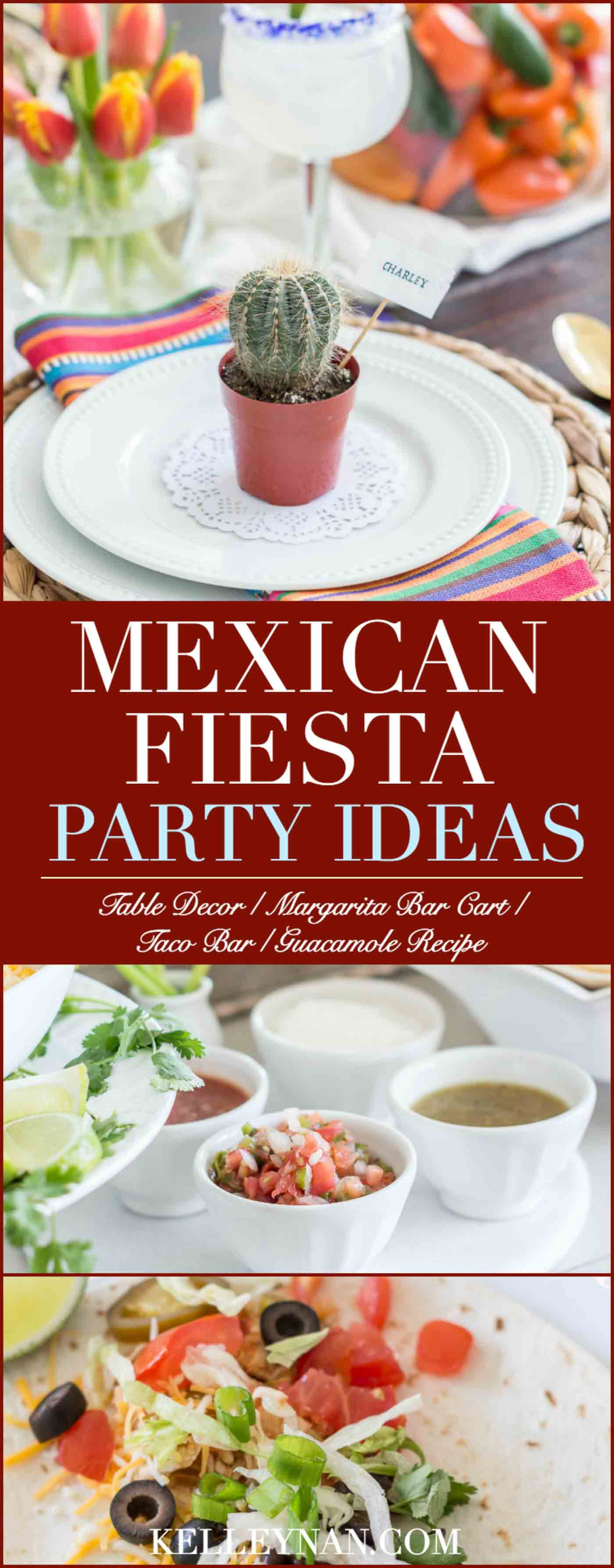 Decor and Food Ideas for a Mexican Fiesta Party with a DIY Taco Bar
