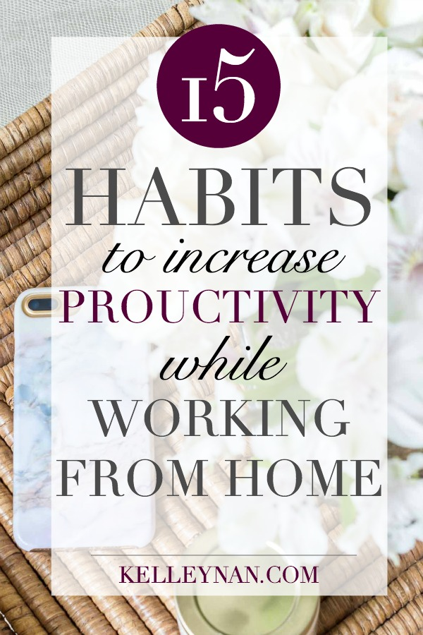 Tips and Ideas for working from home productively an accomplishing your goals and tasks