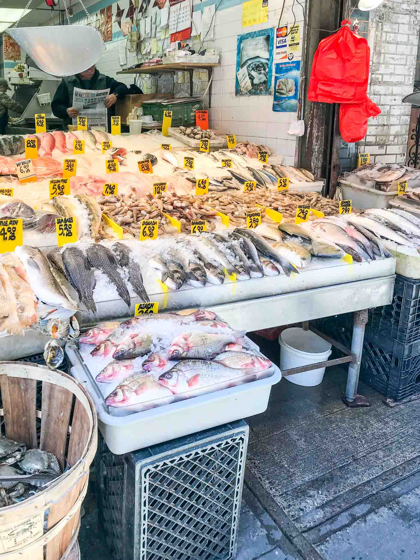 China Town Fish Market in NYC