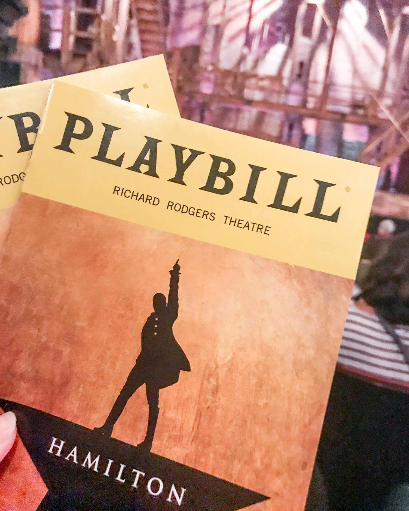Hamilton NYC Playbill