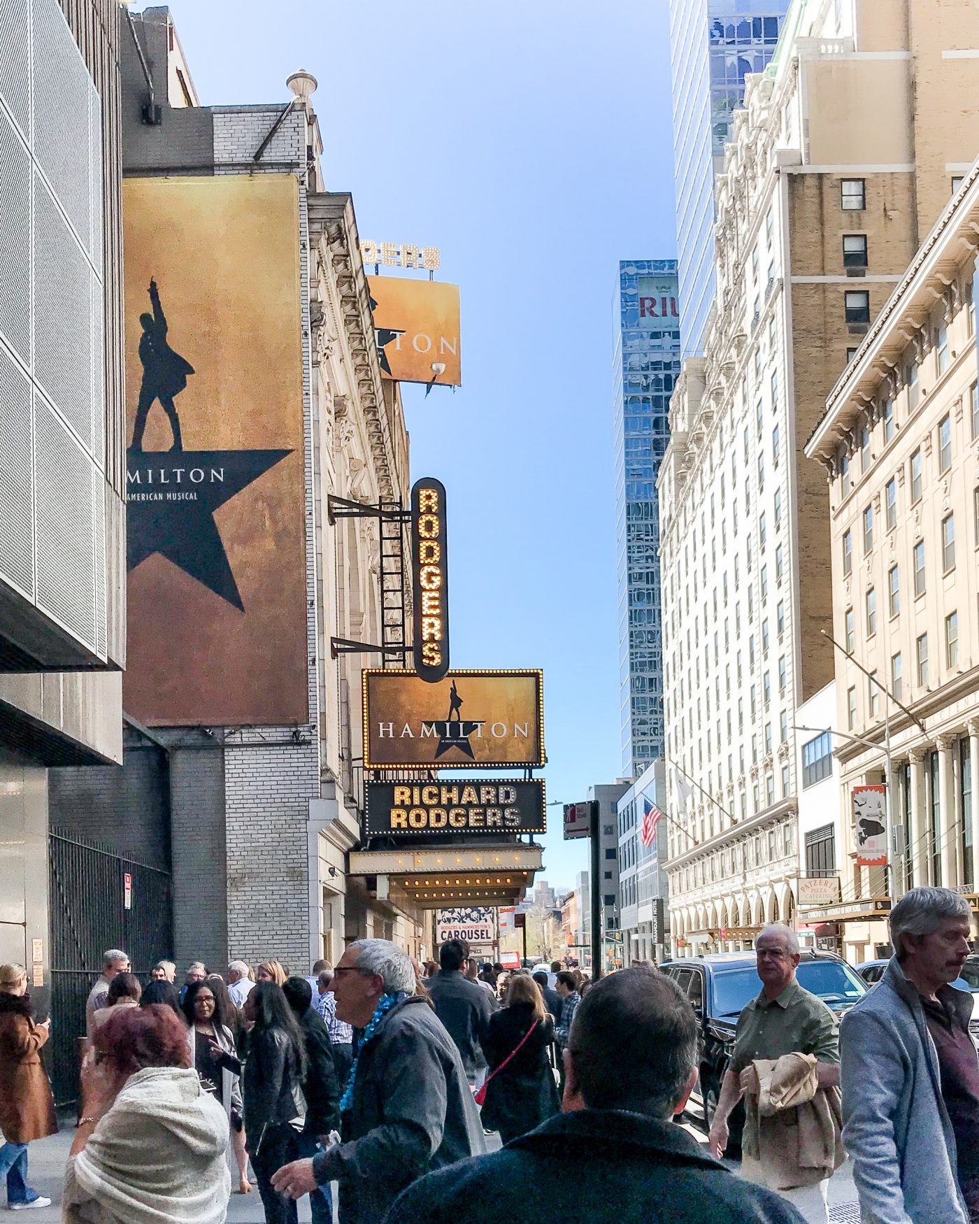 Hamilton on Broadway in NYC