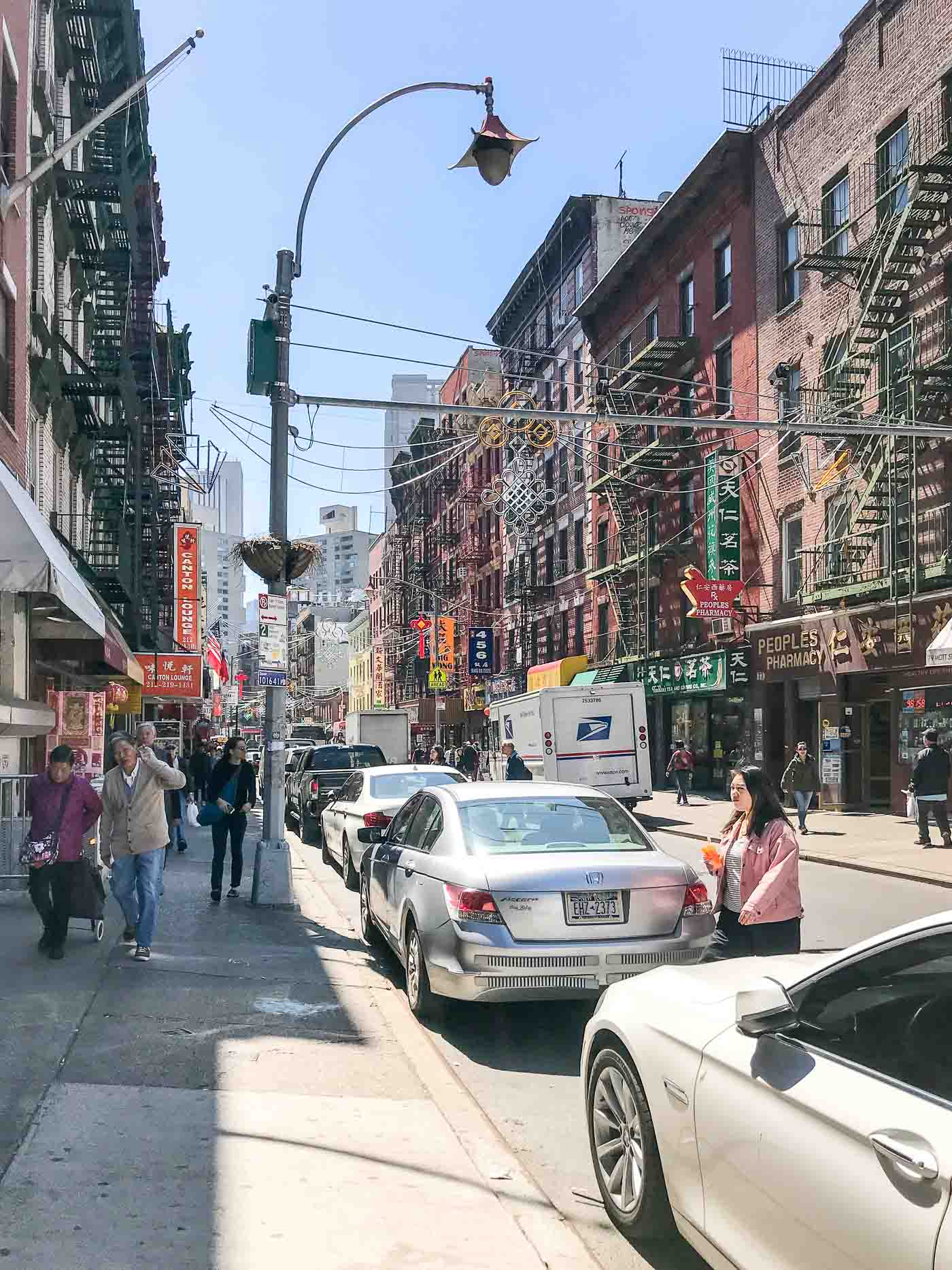 Walking through China Town in NYC