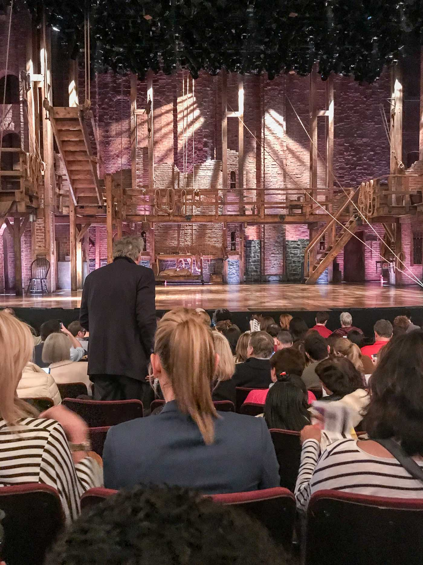 Hamilton set on Broadway