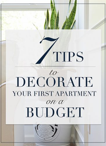 Seven Ways to Decorate Your First Apartment on a Budget