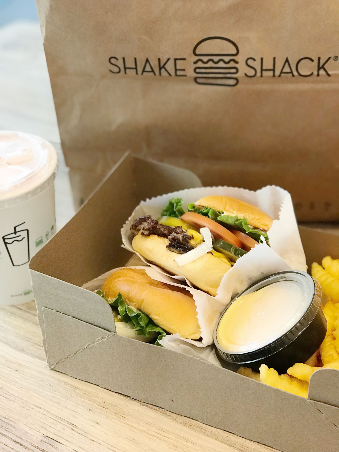 Shake Shack meal in New York City