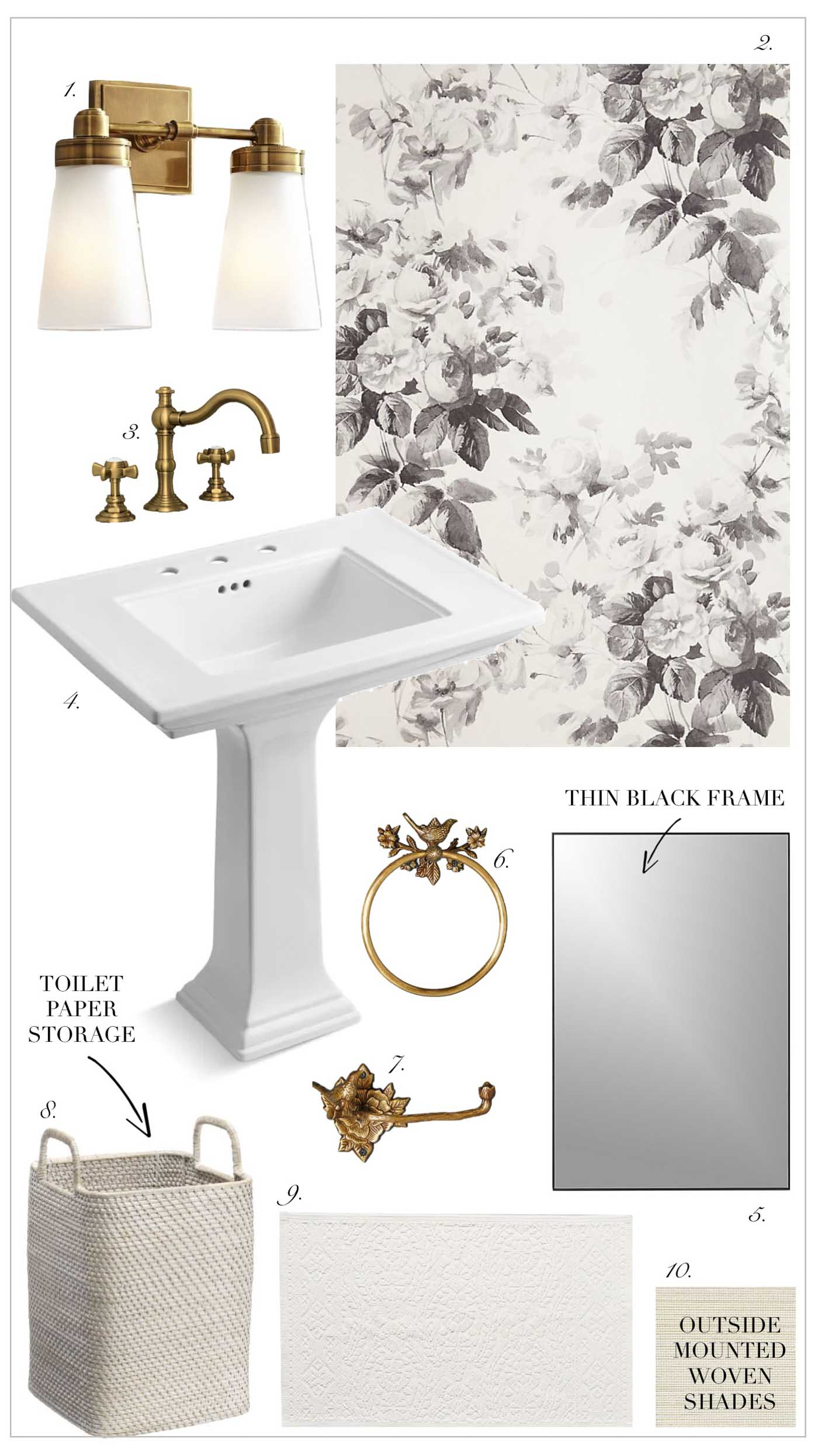 Four Potential Powder Room Design Ideas Kelley Nan