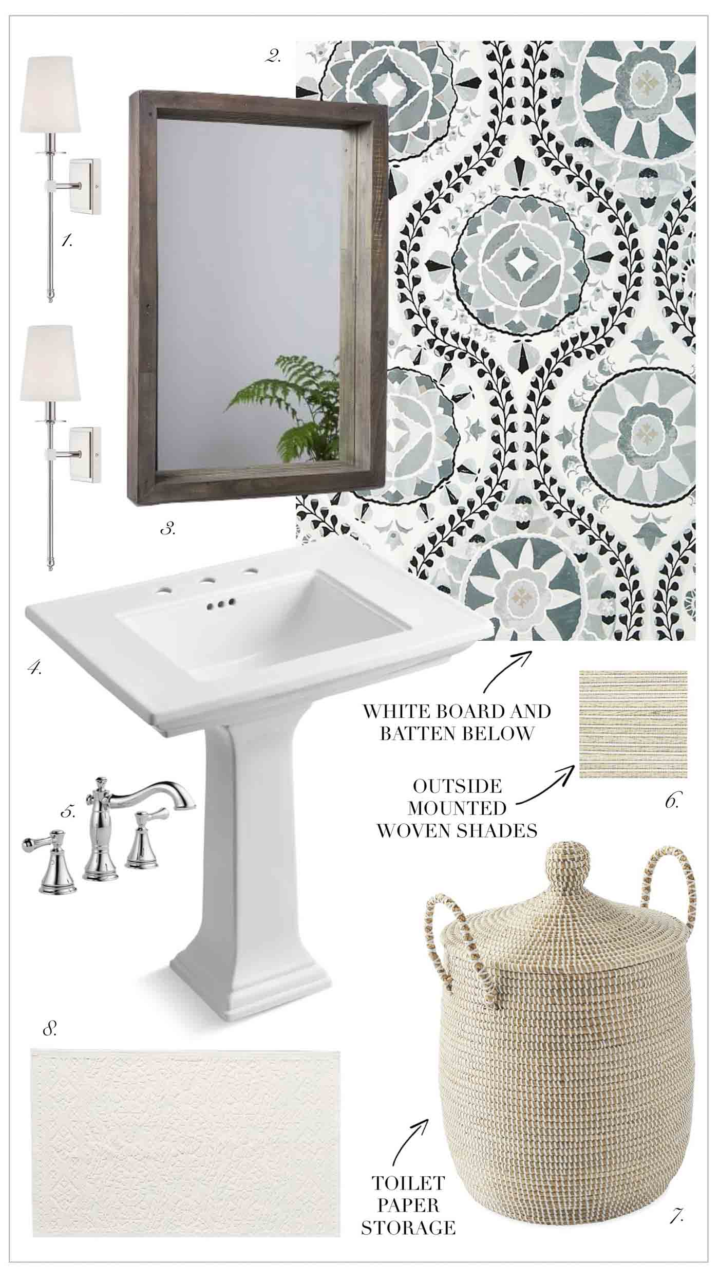 Four Potential Powder Room Design Ideas - Kelley Nan