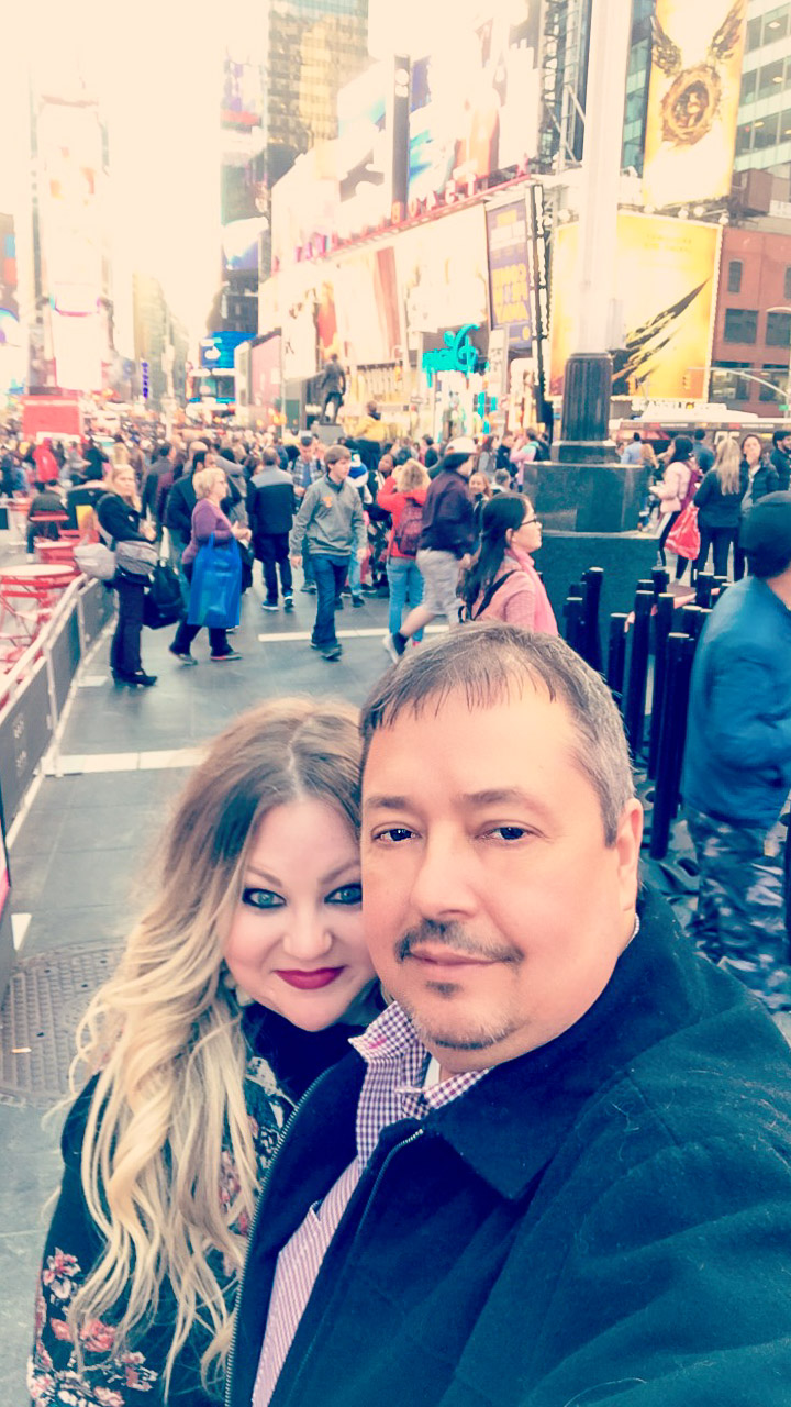 Times Square couple