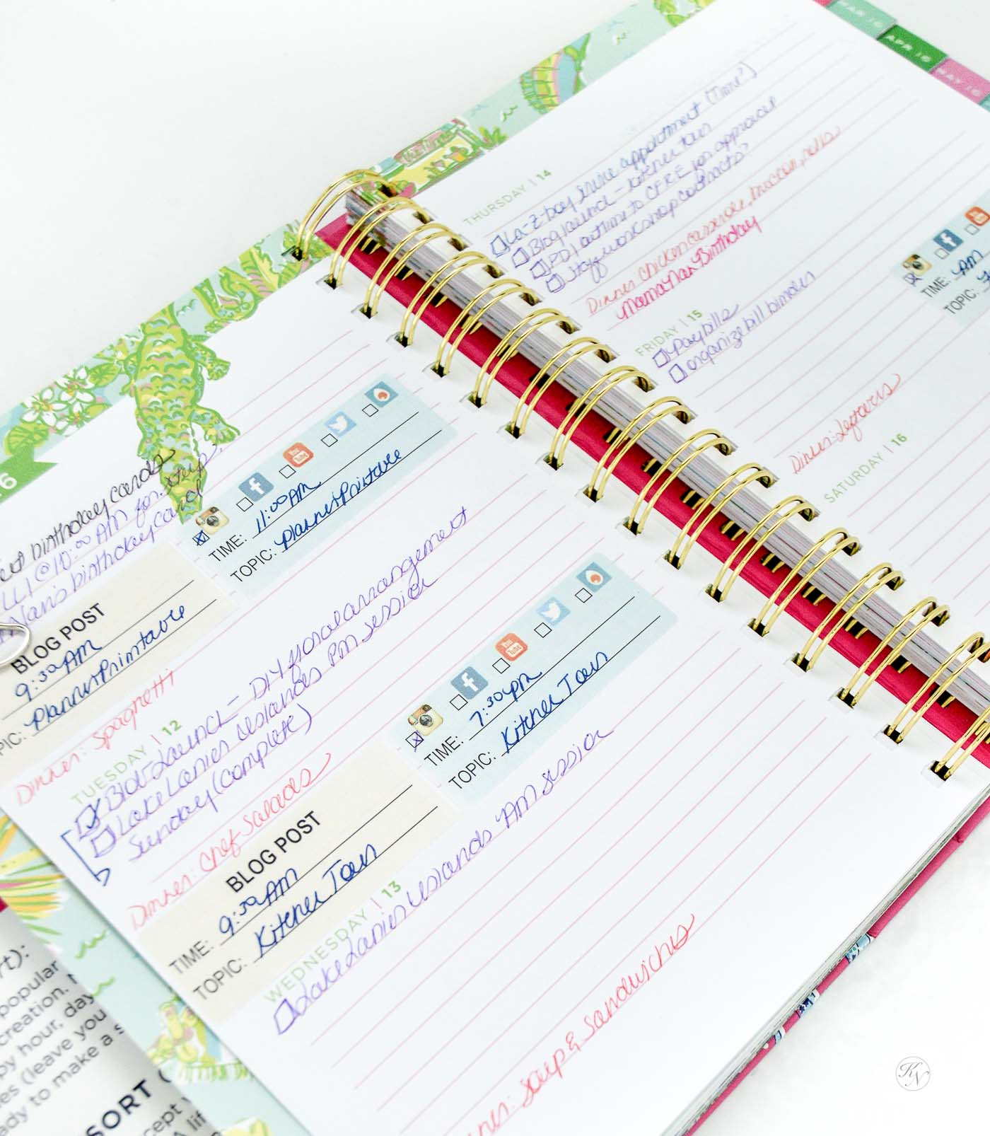 Lilly Pulitzer- favorite planner and day organizer