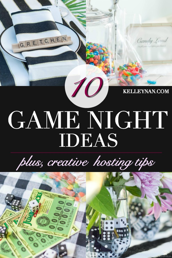 Game night ideas and tips, plus, what to serve, play, and ideas for prizes and themed details