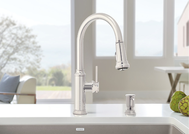 Blanco faucet with pull down nozel