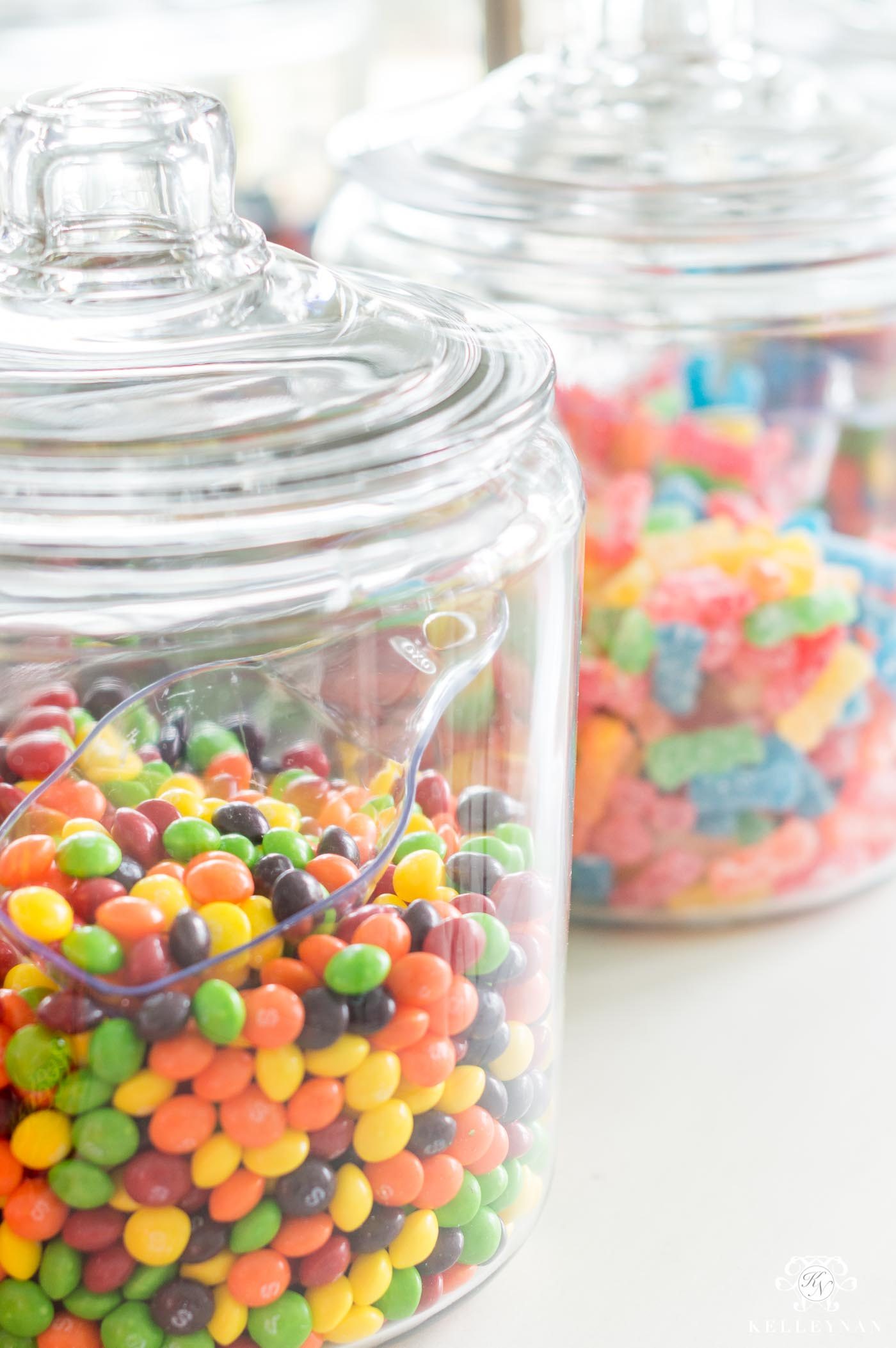 Candy land candy bar jar ideas