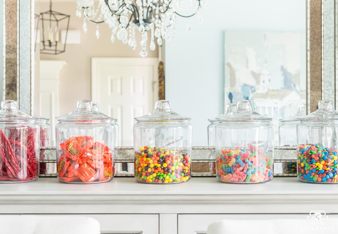 Candy Land candy bar for an easy game night dessert