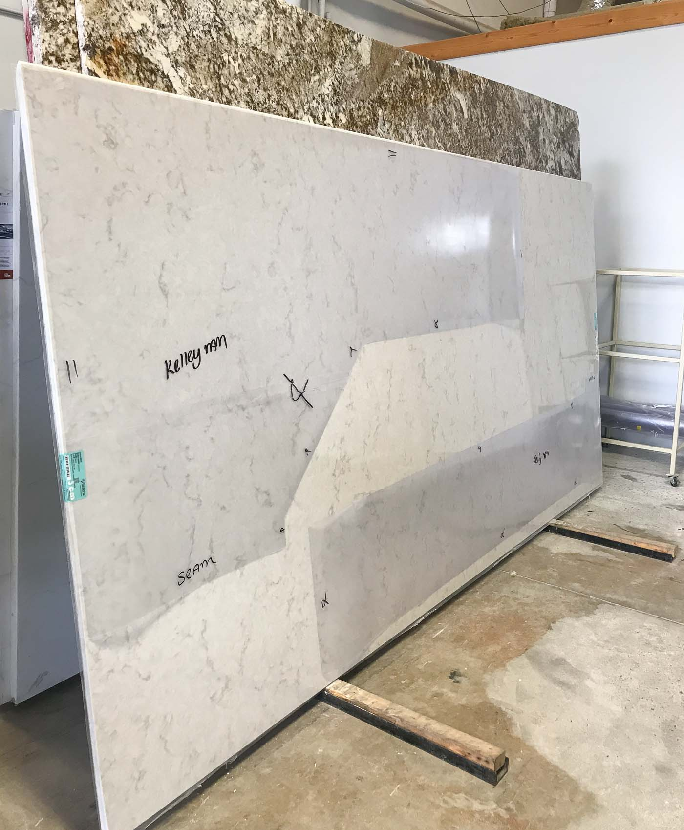 LG Viatera Soprano slab- perfect for white or cream cabinets