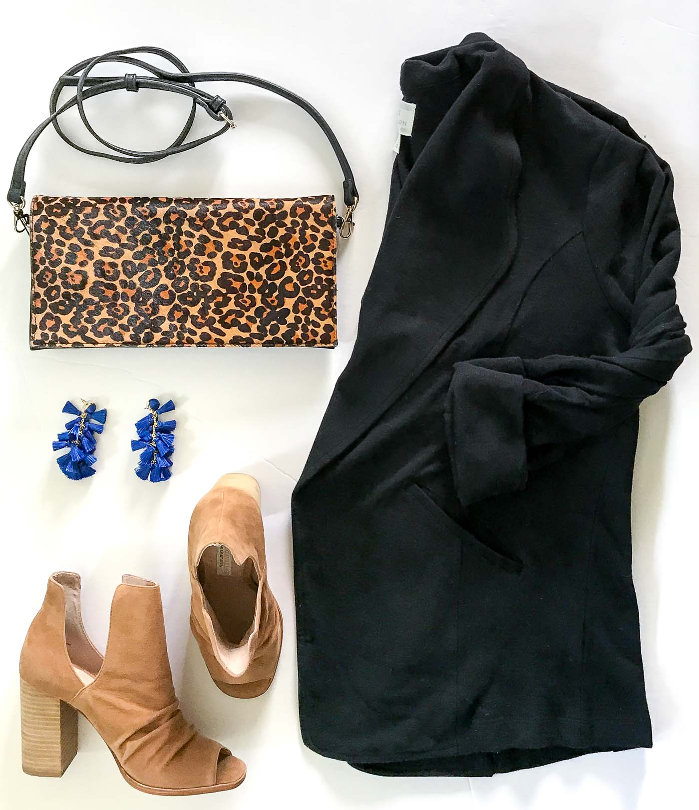 Nordstrom Anniversary Sale Women's- blazer and leopard clutch