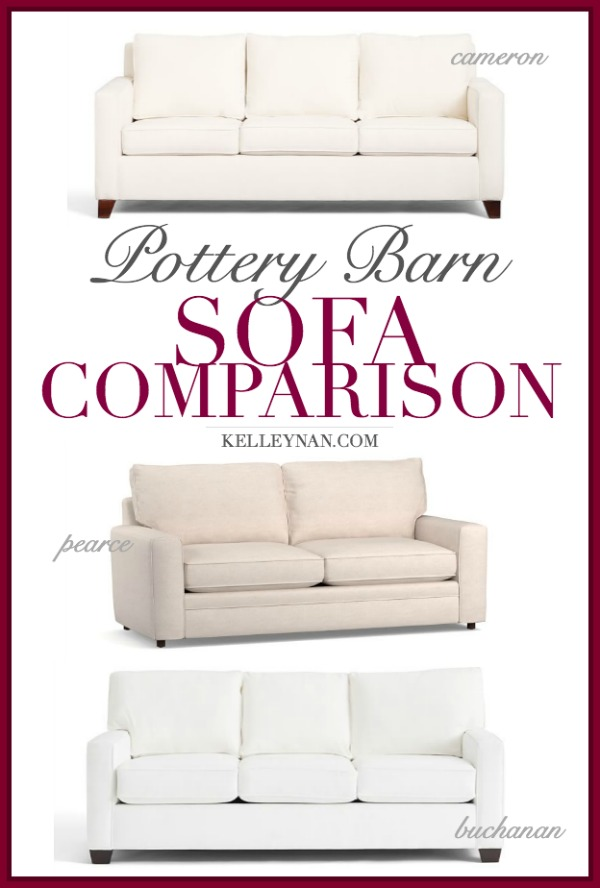 Phenomenal Pottery Barn Sofa Comparison Cameron Vs Pearce Vs Buchanan Home Interior And Landscaping Palasignezvosmurscom