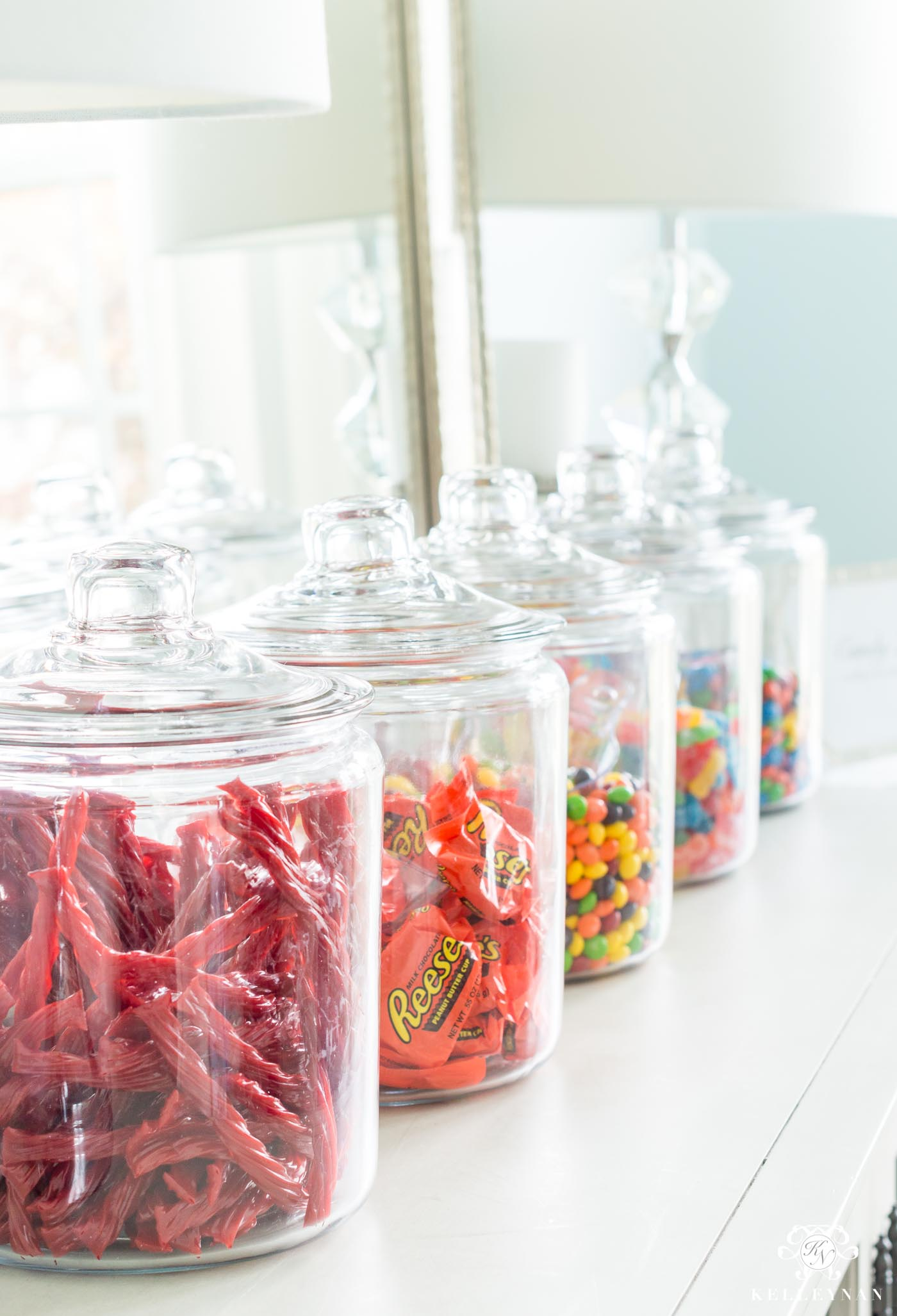 Candy land 1 gallon jars for dessert bar setup