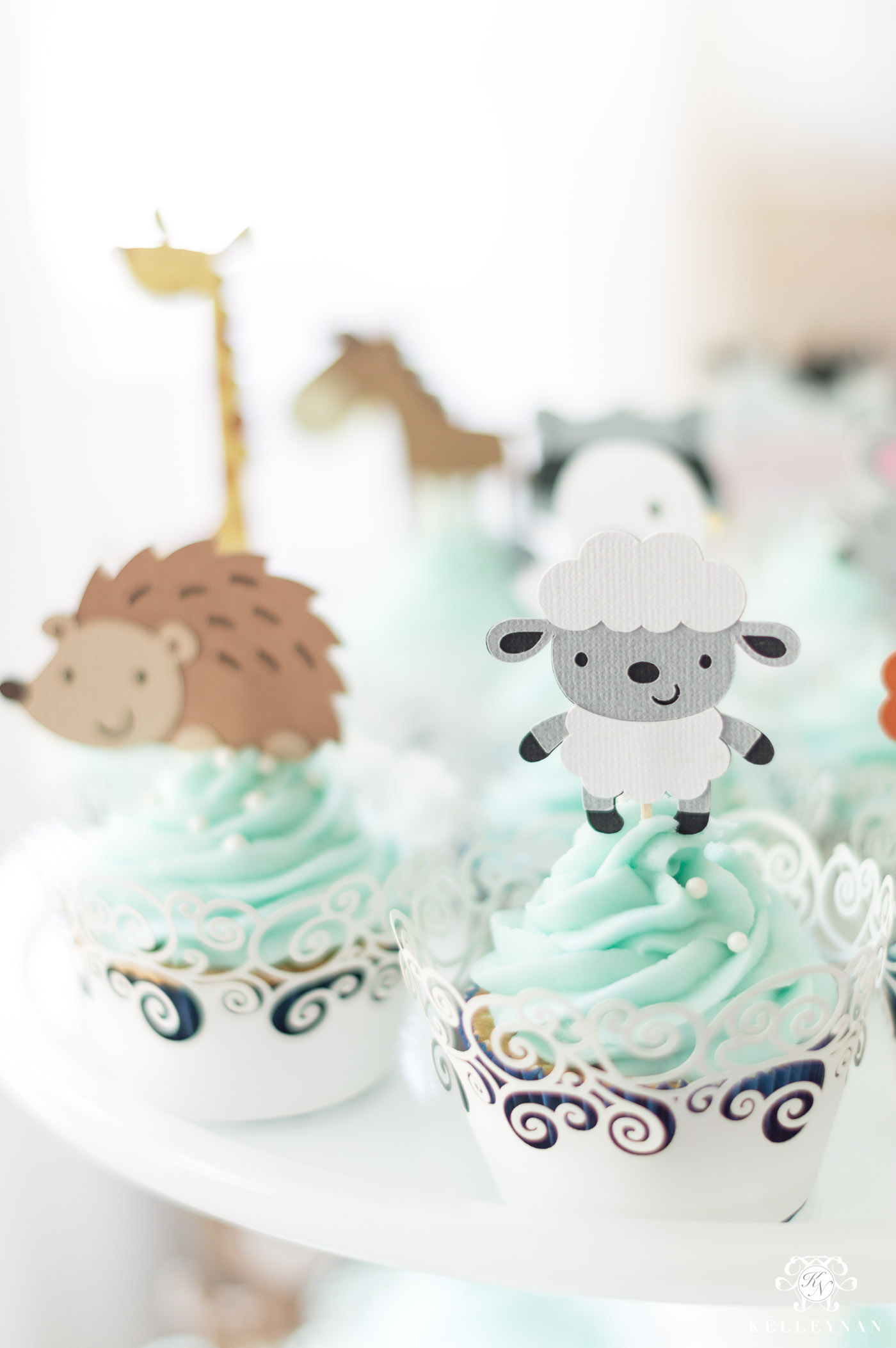 Animal Cupcake Ideas for Twin Baby Shower