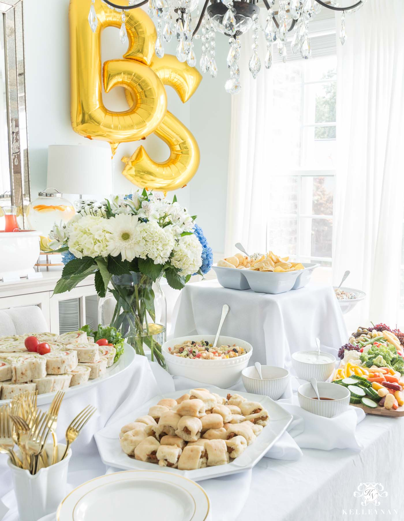 Baby Shower Food Table Setup and Easy Menu Ideas