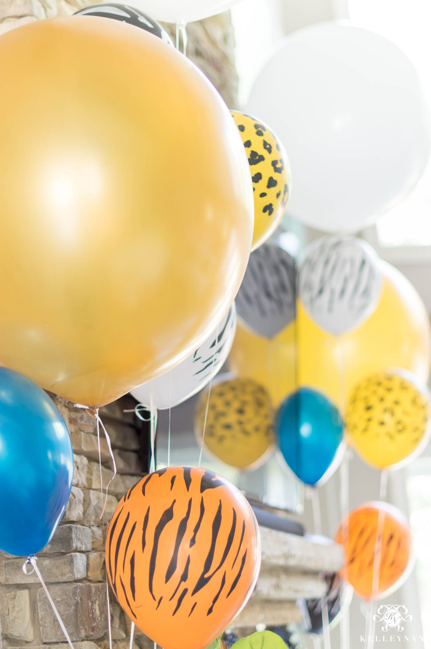 Baby Shower Animal Print Balloons for Noah's Ark Themed Twin Baby Shower
