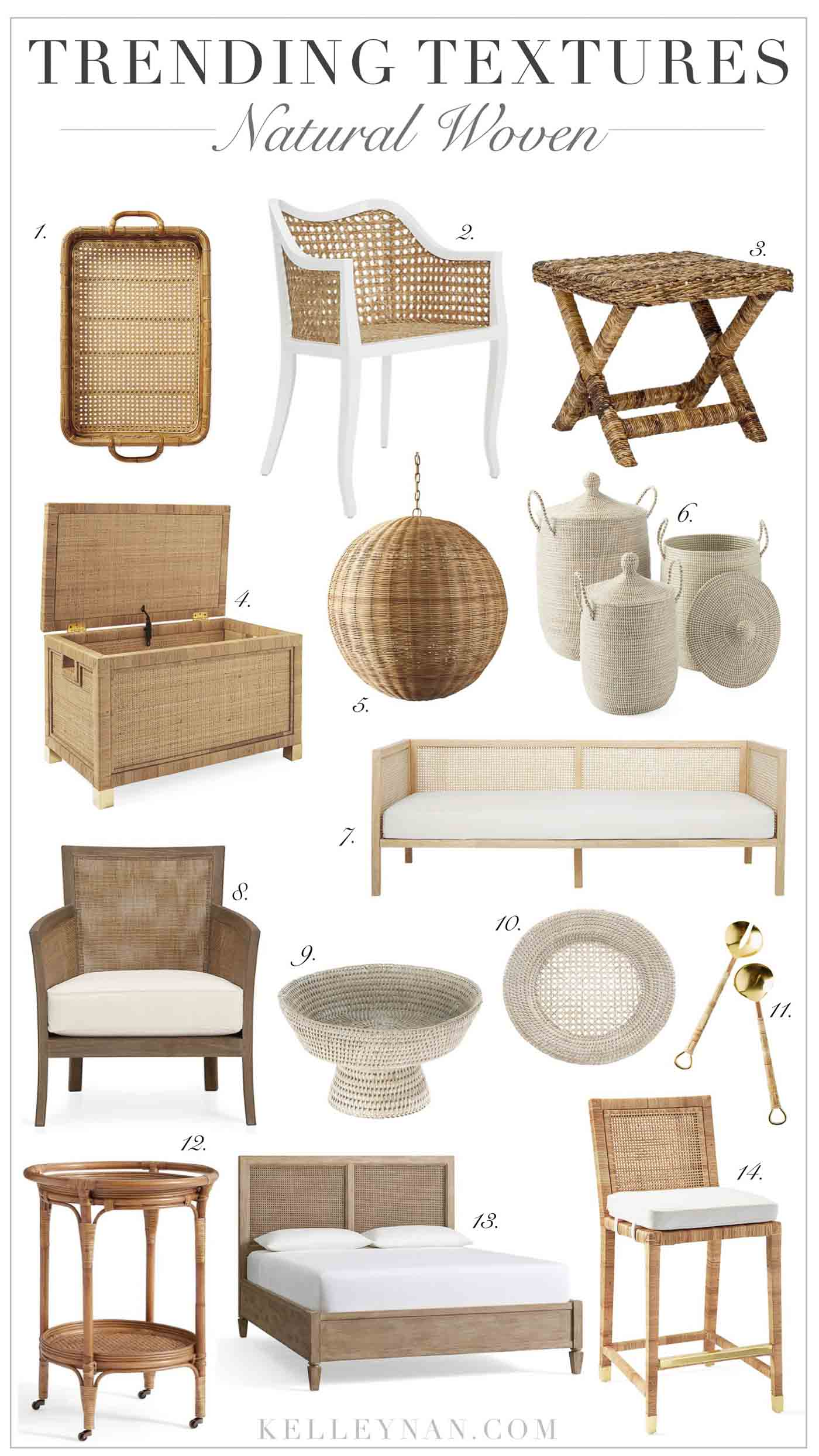 Favorite Rattan, Cane, Wicker, and Woven Furniture and Home Decor
